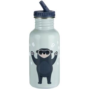 blafre brillebjørn stålflaske lys blå