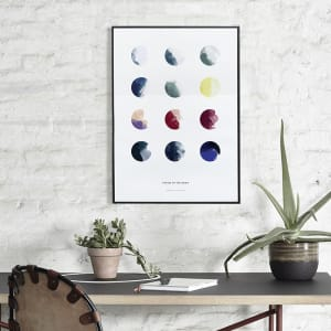 Paper collective plakat 30x40 moon phases