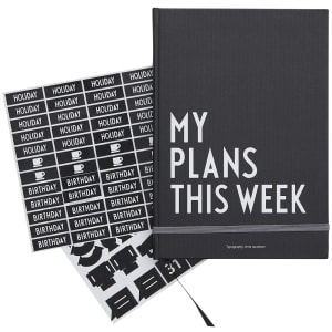 design letters bok A5 my plans this week