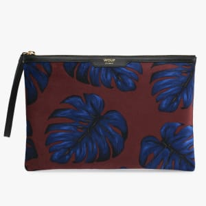 wouf night clutch velvet leaves