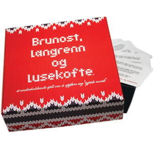 Kylskåpspoesi Spill Brunost, langrenn og lusekofte
