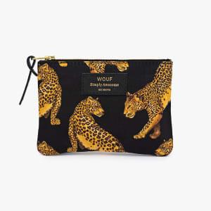 wouf pouch black leopard liten