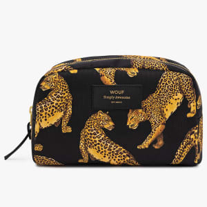 Wouf beauty bag black leopard stor