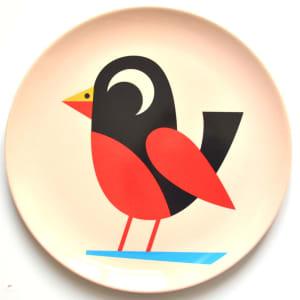 OMM design tallerken fugl