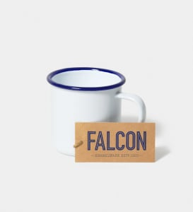 Falcon emaljekrus hvit