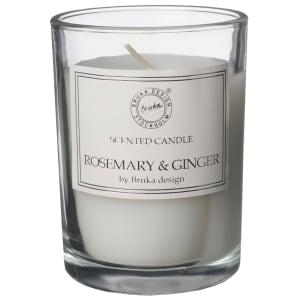 bruka design duftlys clear rosemary & ginger