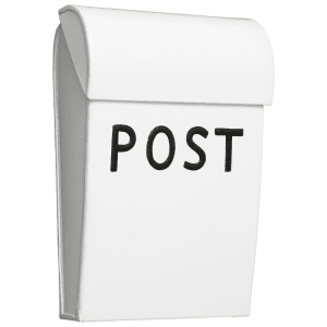 bruka design postkasse mini hvit/sort