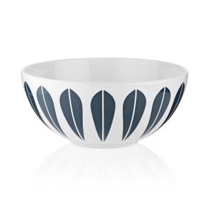 Lucie Kaas Lotus skål hvit/blå 18cm