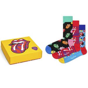 Happy Socks gaveeske Rolling Stones 3 par