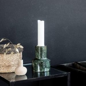 house doctor chunk lysestake grønn marmor