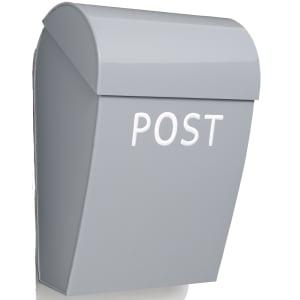 Bruka Design postkasse lys grå