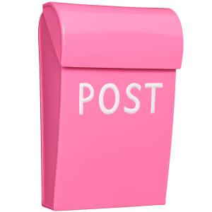 bruka design postkasse mini rosa
