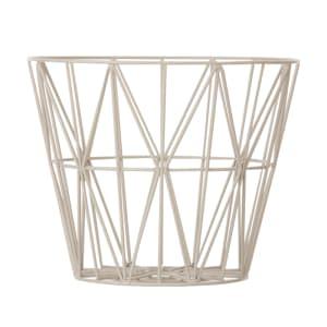 ferm living wire basket liten grå