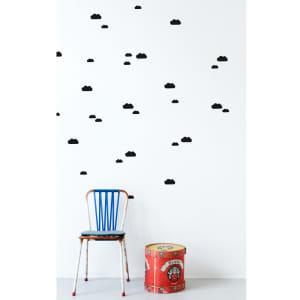 ferm LIVING wallstickers mini skyer svart