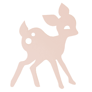 Ferm Living lampe My Deer lyserosa