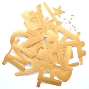 Omm design bokstavbanner gull