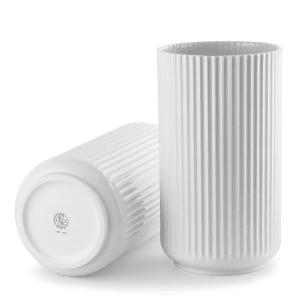 Lyngby vase 31cm hvit