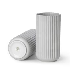lyngby vase 20cm grå