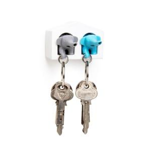 qualy nøkkelring elefant duo blå/grå