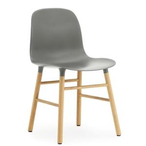 Normann copenhagen form stol grå/eik