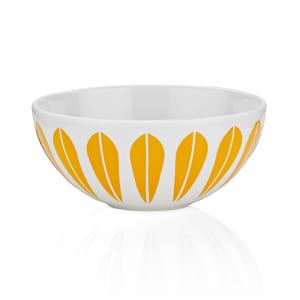 Lucie Kaas Lotus skål hvit/oransje 18cm