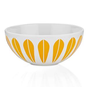 Lucie Kaas Lotus skål hvit/oransje 24cm