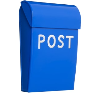 bruka design postkasse mini kornblå