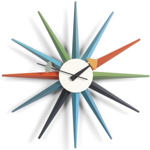 vitra sunburst clock multi