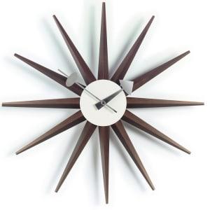 vitra sunburst clock valnøtt
