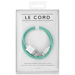 Le Cord ledning Solid robin mint