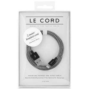 le cord ledning 2m eero sort/hvit