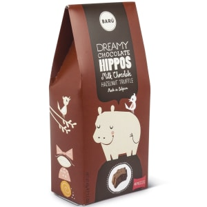 Baru dreamy hippos melkesjokolade m/hasselnøtt trøffel