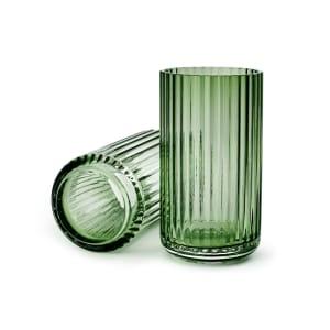 lyngby vase glass 15cm grønn