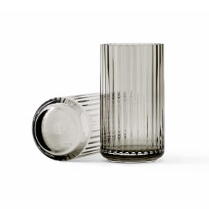 lyngby vase glass 15cm grå