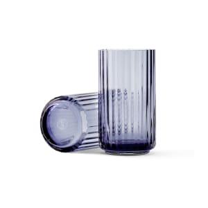lyngby vase glass 12cm blå