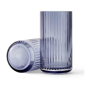 Lyngby vase glass 20cm blå
