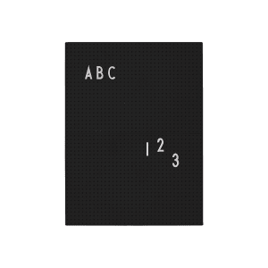 design letters tavle A4 sort