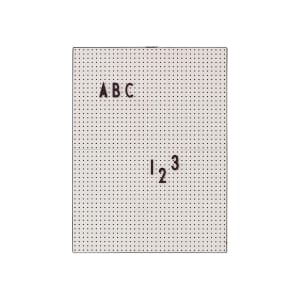 design letters tavle A4 grå