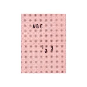 design letters tavle A4 rosa