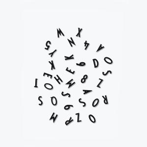 design letters bokstaver/tall 1,9cm i boks sort
