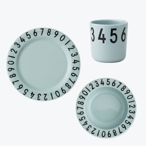Design letters melamin servise the numbers mint