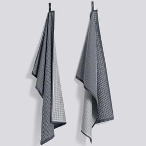 hay grid kjøkkenhåndkle 2pk grønn