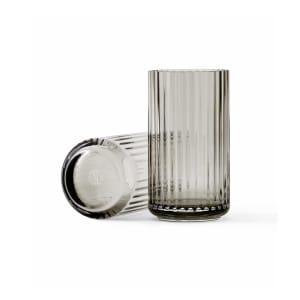 lyngby vase glass 12cm grå