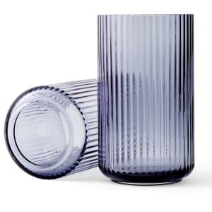 lyngby vase glass 25cm blå