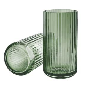 lyngby vase glass 20cm grønn