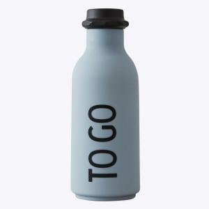 design letters drikkeflaske to go grå
