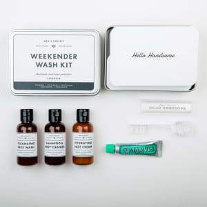 Men`s society gaveeske Weekender wash kit