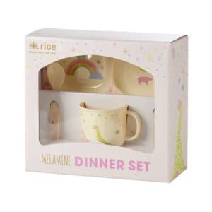Rice melamin baby servise universe pink