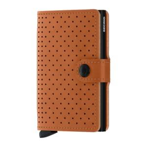 Secrid lommebok Miniwallet perforated cognac