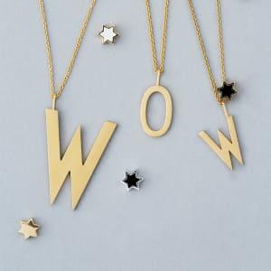 Design Letters kjede gull eller sølv